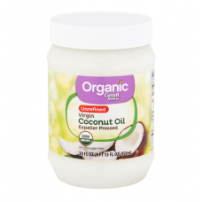 Great Value Organic Unrefined Virgin Coconut Oil, Органическое Неочищенное Кокосовое Масло первого отжима, 858 мл ( 29 fl oz )
