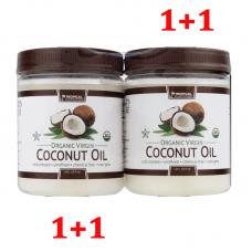 Tropical Plantation Органическое нерафинированное натуральное кокосовое масло, двойная упаковка 1,06 л х 2= 2, 12 л