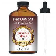 First Botany Moroccan Organic Argan Oil Марокканское органическое аргановое масло для волос, кожи, лица, ногтей, кутикулы и бороды,118 мл
