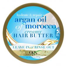 OGX® Hydrate + Repair Argan Oil of Morocco Creamy Hair Butter Увлажнение + Восстановление Аргановое кремовое масло для волос из Марокко, 187 г.