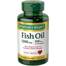 Nature's Bounty Fish Oil Omega-3, Рыбий жир Омега -3, 1200 мг, 320 капсул