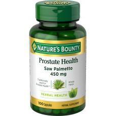 Nature's Bounty, Со пальметто,450 mg, 100 капсул