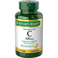 Nature's Bounty, Time Released Витамин C, 500 mg, 100 Capsules