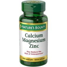 Nature's Bounty, Кальций, магний, цинк,( c витамином D) 100 каплетов с покрытием
