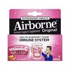 AirBorne, Шипучие таблетки со вкусом красного грейпфрута, 10 таблеток