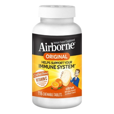 Schiff, AirBorn Жевательные таблетки c цитрусовым  вкусом   116 шт
