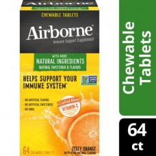 AirBorne жевательные таблетки для поддержки иммунной системы с витамином С со вкусом  пикантного апельсина - 64 шт