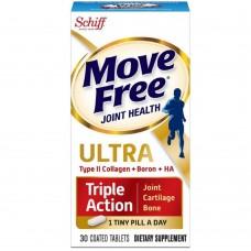 Shiff Move Free Ultra Triple Action с добавками из коллагена, бора и HA типа II, 30 каплет