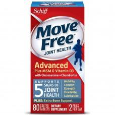 Schiff, Улучшенный Комплекс для Свободного Движения плюс MSM & Витамин Д3 для Здоровья Суставов, 80 Таблеток