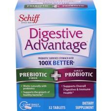 Digestive Advantage Улучшенный пищеварительный периодическое волокно + пробиотик - 32 таблетки