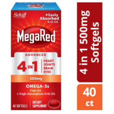 MegaRed Advanced 4 в 1 Омега-3, 500 Мг, 40 шт