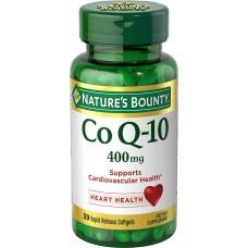 Nature's Bounty Co Q-10, Нэйчерс Баунти Коэнзим Q-10, 400 мг, 39 мягких быстрорастворимых капсул