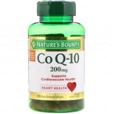 Nature's Bounty Co Q-10, Нэйчерс Баунти Коэнзим Q-10, 200 мг, 80 мягких быстрорастворимых капсул