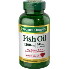 Nature's Bounty Fish Oil Omega-3, Рыбий жир Омега -3, 1200 мг, 200 капсул